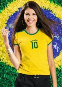 Camiseta Baby look Brasil P - R$4
