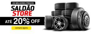 Saldão PneuStore - Até 20% OFF + Frete e montagem grátis + 7% de desconto à vista