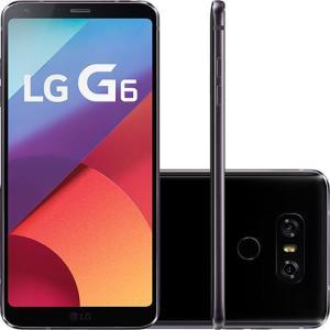 "Smartphone LG G6 Android 7.0 Tela 5.7"" Quad-core 2.35 GHz 32GB 4G Câmera 13MP - Preto - R$ 2.490,00"