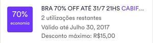 Cabify BR 70% até 31.7