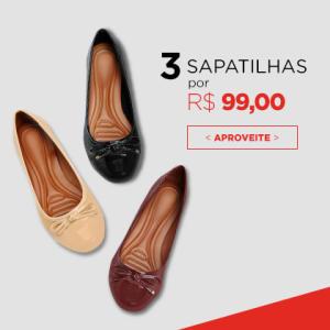 NETSHOES - 3 Sapatilhas por R$99,00