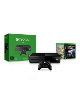 Console Xbox One 500GB Preto Microsoft + 1 Mês de EA Access + Jogo FIFA 17 EA Sports + Jogo Metal Gear Solid V: Ground Zeroes Konami