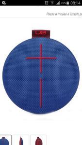 Caixa de Som Bluetooth Logitech UE Roll Azul - R$ 319,90 (á vista)