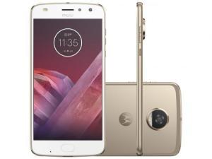 Magazine Luiza - Smartphone Motorola Moto Z2 Play 64GB Ouro - Dual Chip 4G Câm. 12MP + Selfie 5MP Tela 5.5