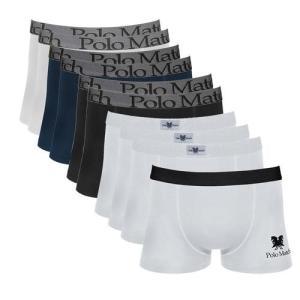 Kit Com 10 Cuecas Boxer De Cotton - Polo Match - R$85,90