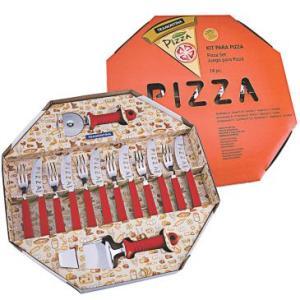 Kit para Pizza 14 Peças Vermelho - Tramontina - R$65