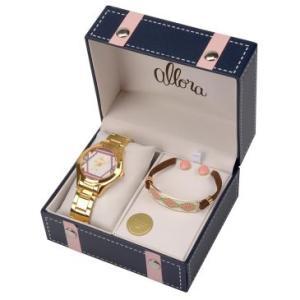 Relógio Feminino Allora, Analógico, Pulseira de Aço, Caixa de 3,6 cm, Resistente á àgua 5 ATM