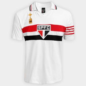 Camisa Polo São Paulo Capitães Libertadores 1992 - Branco - R 55 2eef266f2d38d