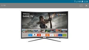 "Smart TV LED Tela Curva 40"" Samsung - R$1750"