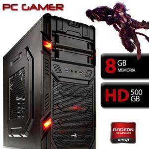 Computador Gamer Aerocool AMD A4 7300, Radeon HD 8470D, 8GB Ram, HD 500GB  (Cód.15537559)