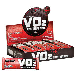 VO2 Protein Bar Morango C/ 12 Barras - IntegralMédica - R$ 21