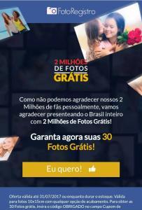 [Grátis] 30 fotos de graça pelo FotoRegistro e você só paga o frete!
