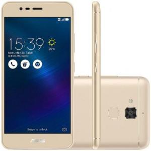 "Smartphone Asus Zenfone 3 Max 5.2"" 16GB ZC520TL Desbloqueado Dourado - R$699,90"