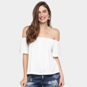 Blusa Ombro a Ombro - Branca R$18