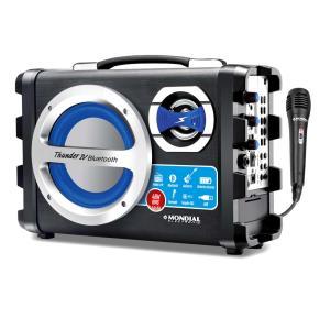 Caixa Acústica Mondial Multi Connect MCO04 Bluetooth USB Microfone sem Fio – 40W - R$190