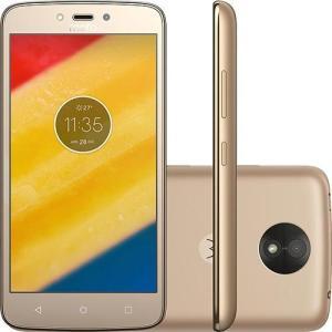 """Smartphone Motorola Moto C Plus Dual Chip Android 7.0 Nougat Tela 5"""" Quad-Core 1.3GHz - R$ 497"""