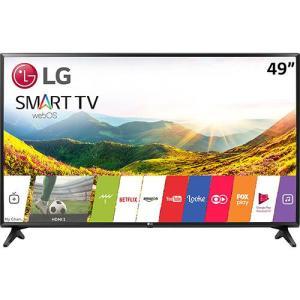 "Smart TV LED 49"" LG 49LJ5500 Full HD Conversor Digital Wi-Fi integrado 1 USB 2 HDMI webOS 3.5 - R$2159"