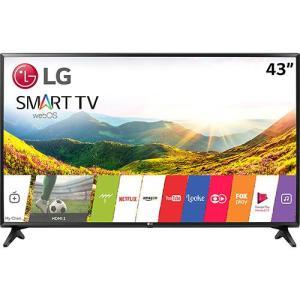 "Smart TV LED 43"" LG 43lj5500 Full HD com Conversor Digital Wi-Fi integrado por R$ 1709"