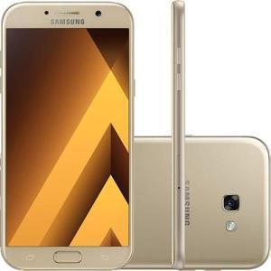 """Smartphone Samsung Galaxy A7 Dual Chip Android 6.0 Tela 5.7"""" Octa-Core 1.9GHz 32GB 4G Câmera 16MP - Dourado"""