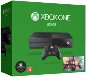 Console Xbox One 500Gb + Battlefield 1(valor de 1.079$ para pagamento no cartão Saraiva) para pagamento no boleto o valor e 1.139$