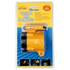 Lanterna Para Emergencias Western 10W-12V Com Ima - R$9