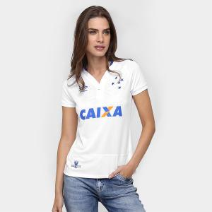 Camisa Feminina Umbro Cruzeiro II 2016 s/nº - Branco e Azul - R$100