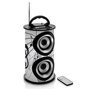 Caixa de Som Amplificada TRC 218B Bluetooth Entrada USB Rádio FM e Controle Remoto – 25W - R$85 no boleto