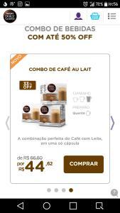 Combo de capsulas dolce gusto por R$ 44