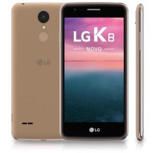 """Smartphone LG K8 NOVO Dourado Dual Chip Android 6.0 4G Wi-Fi 5"""" HD por R$ 599"""