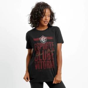 Camiseta Vitória Rubro Negro Feminina