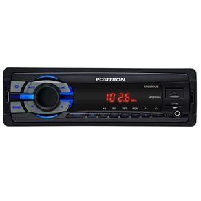 Som Automotivo Pósitron SP2210UB com MP3, Rádio FM, Conexão USB, Leitor de Cartão SD e Entrada Auxiliar R$80