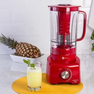 Liquidificador Fun Kitchen Max 2L 12 velocidades Vermelho 900W - R$129,99