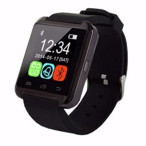 Smartwatch Bluetooth Compativel Com Android Touch Com Pedometro E Contador De Calorias U8 Preto - R$39