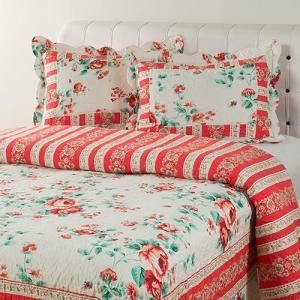 Colcha Casal Boutis Windsor com 2 Porta-Travesseiros - Casa & Conforto - R$75