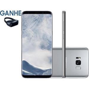 "Smartphone Samsung Galaxy S8+ Dual Chip Android 7.0 Tela 6.2"" Octa-Core 2.3 GHz 64GB Câmera 12MP - Prata - R$2.850"
