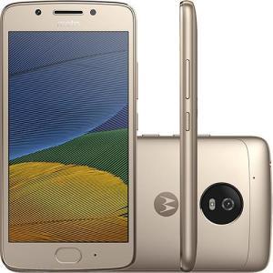 """Smartphone Moto G 5 Dual Chip Android 7.0 Tela 5"""" 32GB 4G Câmera 13MP - Ouro - R$ 665,09 (1x no Cartão Americanas)"""