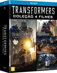 Blu-Ray Transformers - Coleção 4 Filmes - 4 Discos - R$ 34