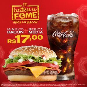 Semana Amor Por Bacon: McNífico Bacon + Bebida Média por só R$17,00