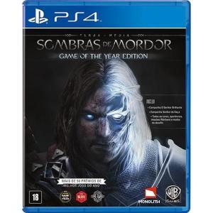 Game Terra Média: Sombras de Mordor - Edição Jogo do Ano PS4 - R$79,99