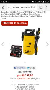 Lavadora de Alta Pressão 1523 Libras - Tekna + Kit de Ferramentas 13 Peças - Schulz - R$219