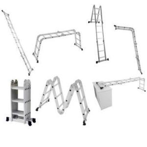 Escada Multifuncional 5131 4 x 3 em Alumínio 12 degraus capacidade 150 Kg - Mor - R$199
