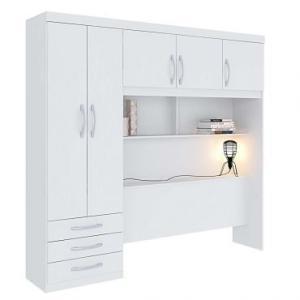 Guarda-Roupa | Roupeiro Modulado Casal com 5 Portas 3 Gavetas - Branco - Herval - R$499