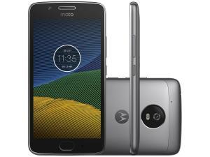 "Smartphone Motorola Moto G5 XT1672 32GB Cinza Tela 5"" Câmera 13MP Android 7.0"