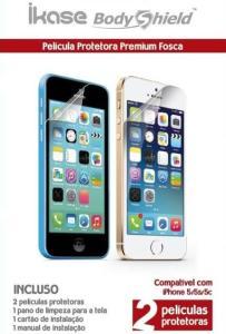 Película iPhone 5/5S/5C Anti-Reflexo Ikase - 2 Unidades R$1