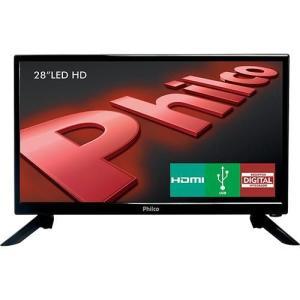 "TV LED 28"" Philco PH28N91D HD com Conversor Digital 1 USB 1 HDMI - Preta R$649"