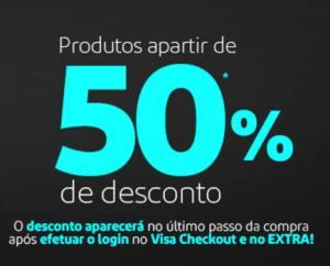 [Extra] Pague com Visa Checkout e ganhe a partir 50%OFF