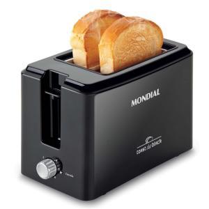 Torradeira Toast Due Black Mondial T-05 com 6 Opções de Tostagem - Preta por R$ 27