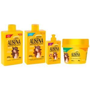 Kit Completo Muriel Alisena: Shampoo 300ml + Condicionador 300ml + Máscara 300g + Finalizador 100g - Cabelos Mais Lisos e Sem Frizz! - 39,90
