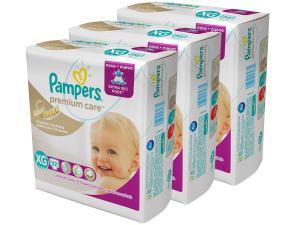 [App Magazine Luíza] Kit Fraldas Pampers Premium Care Mega a partir de 62 centavos a tira + frete grátis