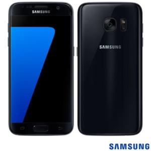 """Samsung Galaxy S7 Preto, com Tela de 5.1"""", 4G, 32 GB e Câmera de 12 MP - R$1.777"""